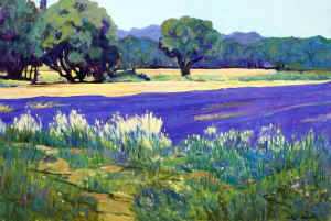 Lavender and wheat Provence 24 x 36 oil.jpg (101916 bytes)